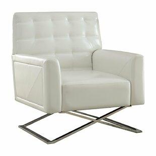 Brayden Studio Hailey Contemporary Sleek Comfort Armchair