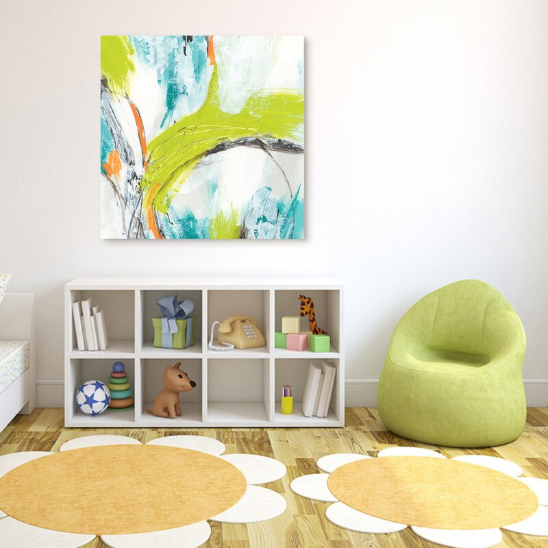 Colorful Glass Wall Art - 'Piquant 3' Print on Glass