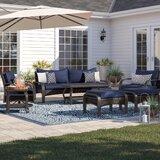 Casa 7 Piece Rattan Sofa Seating Group with Sunbrella Cushions by Birch Lane™