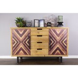 Beckmann 4 Drawer 2 Door Wooden Sideboard by Millwood Pines
