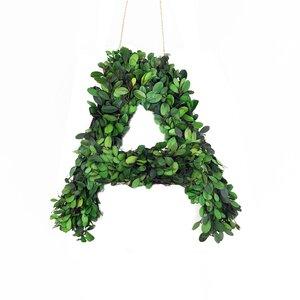 Faux Boxwood Letter Wreath
