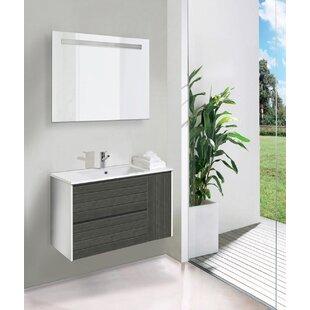Marley 3-Piece Bathroom Furniture Set With LED Mirror By Belfry Bathroom