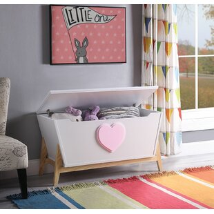 Burcham Wooden Lift Top Storage Bench by Zoomie Kids
