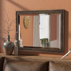 rustic bathroom mirrors. Rectangle Narrow Rustic Pine Bathroom Mirror  Vanity Mirrors You ll Love Wayfair