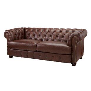 Laila Leather Chesterfield Sofa