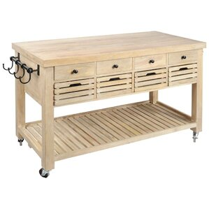 Columbia Kitchen Island by Mercana