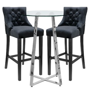Geremia Dining Set With 2 Chairs By Wade Logan