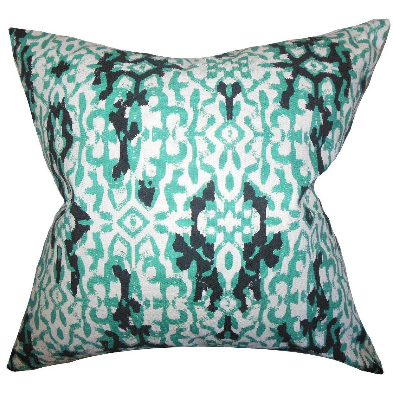 The Pillow Collection Madrigal Ikat Cotton Throw Pillow Cover Wayfair
