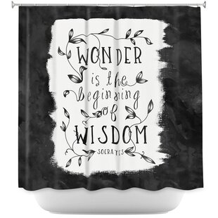 Wonder is Wisdom Single Shower Curtain