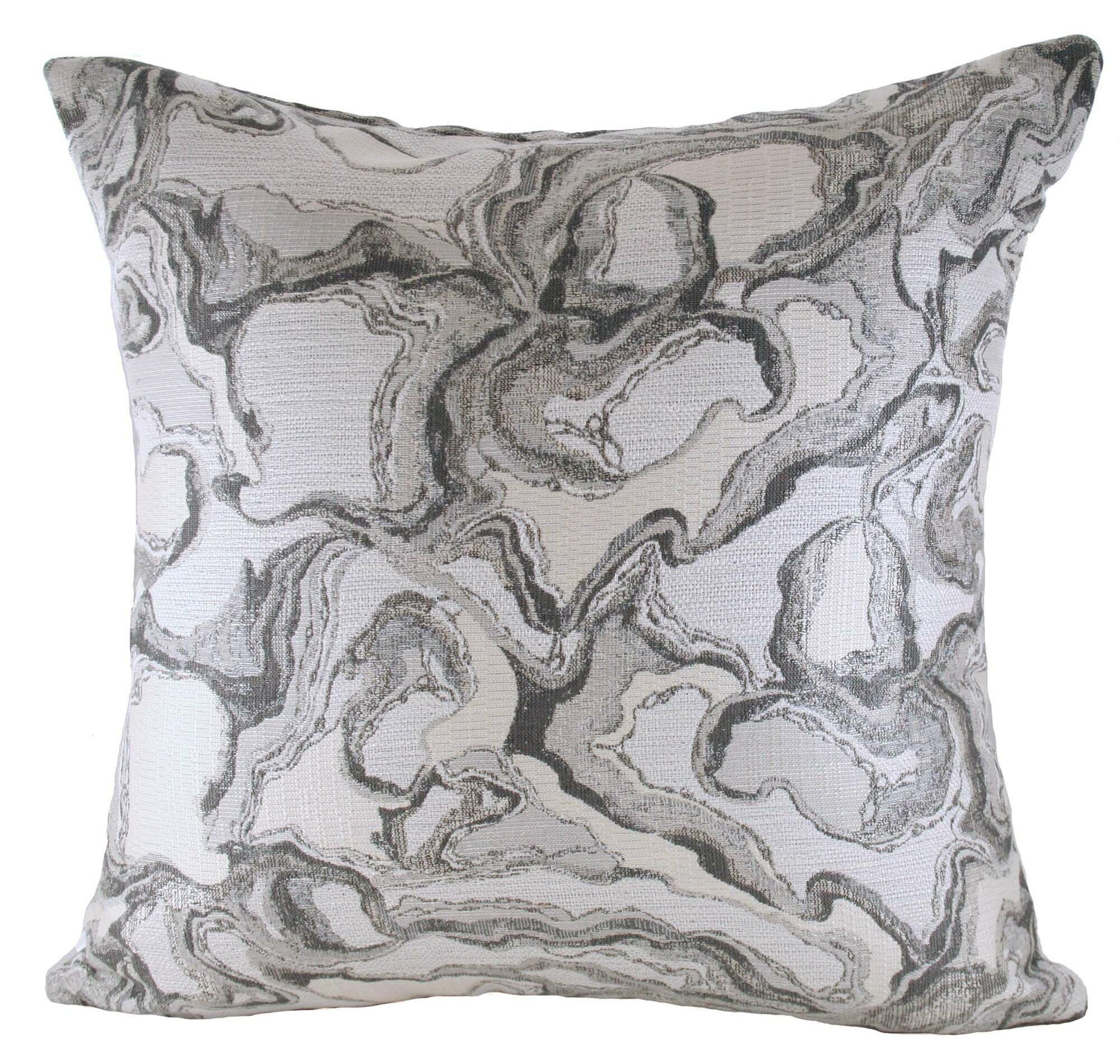 Ebern Designs Marble Cotton Blend Throw Pillow Wayfair