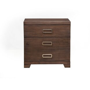 Brayden Studio Blake 3 Drawer Nightstand