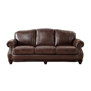 Shop Rude Leather Sofa by Canora Grey