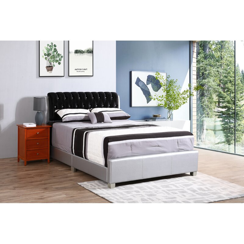 Latitude Run Medford Upholstered Standard Bed Reviews Wayfair