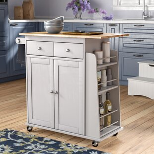 Brecht Contemporary Kitchen Cart Alcott Hill