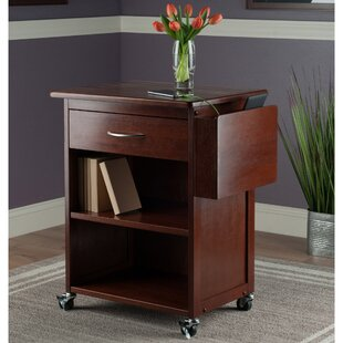 Charlton Home Diego Media Bar Cart with Gadget Caddy