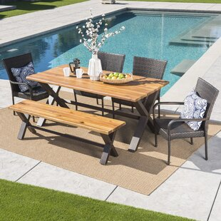 Brayden Studio Arbouet Outdoor 6 Piece Dining Set