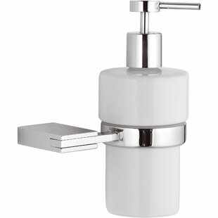 Latitude Run Marcell Wall Mounted CeramicSoap & Lotion Dispenser