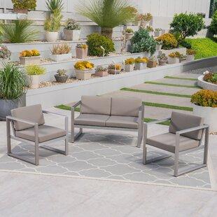 Mirando 3 Piece Sofa Seating Group by Mercury Row