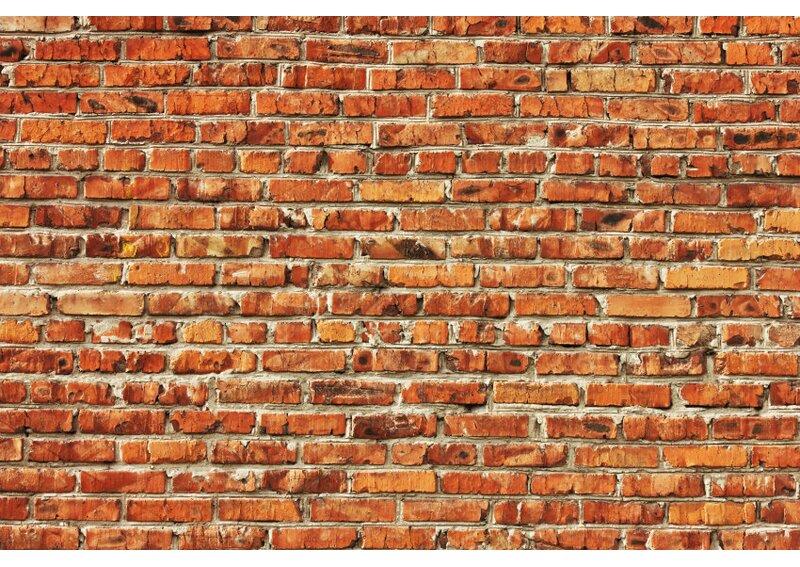 East Urban Home Red Brick Wall 4.1m x 50cm 7 Piece ...