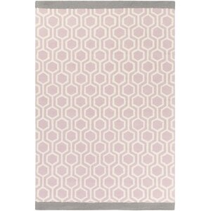 Blitar Hand-Crafted Light Pink/Gray Area Rug