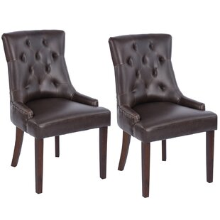 Gamino Upholstered Dining Chair (Set of 2) by Charlton Home