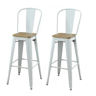 Smyth Modern Metal Frame Bar Armless Bar Stool (Set of 2) by Gracie Oaks