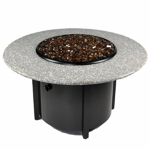 Venice III Granite Aluminum Propane Fire Pit Table