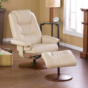 Fin City Manual Swivel Recliner with Ottoman