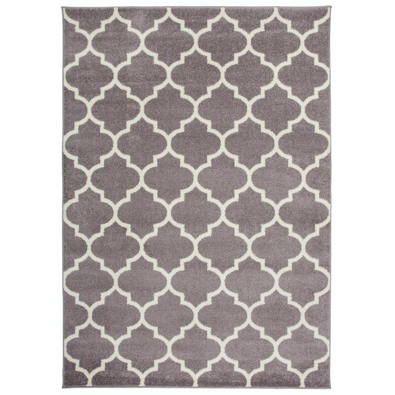 Charlton Home Claremont Geometric Gray Area Rug Reviews Wayfair