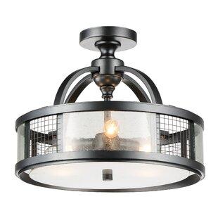 Quinn 3-Light Semi Flush Mount by CWI Lighting