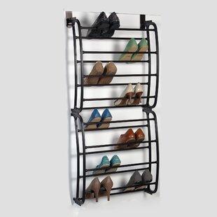 Top 8-Tier 24 Pair Overdoor Shoe Organizer ByRichards Homewares