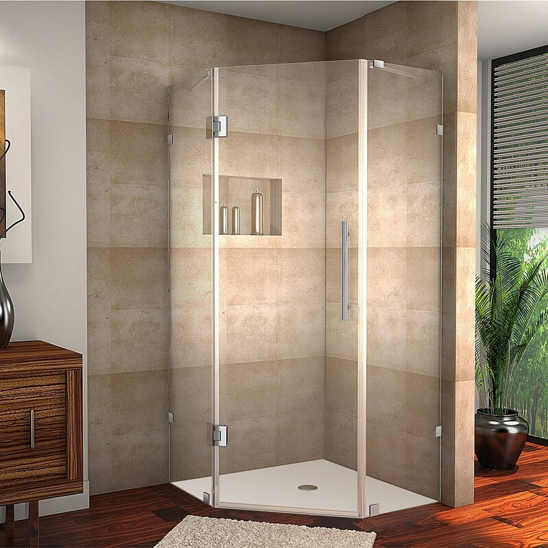 Exceptional Neoscape Completely Frameless Neo Angle Hinged Shower Enclosure