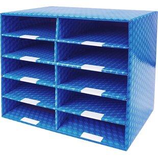Rebrilliant 10 Compartments Laminated Corrugated Mailroom Sorter