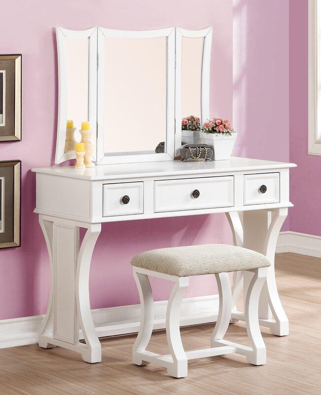 vanity desk. Lucca Vanity Set Makeup Tables and Vanities You ll Love  Wayfair