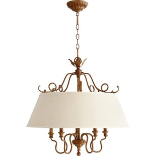 One Allium Way Paladino 5-Light Drum Chandelier