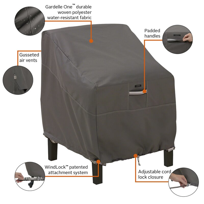 Tremendous Kendala Water Resistant Patio Chair Cover Machost Co Dining Chair Design Ideas Machostcouk