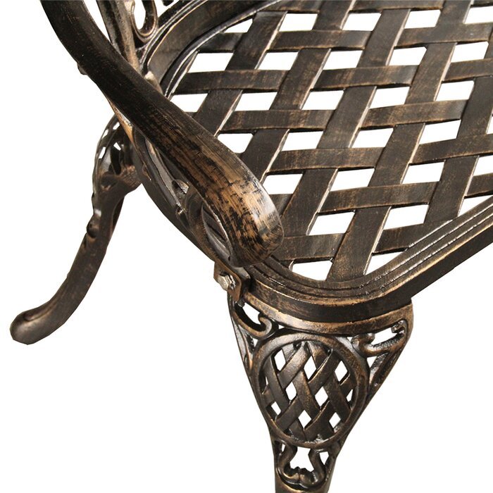 Wondrous Rockwell Ornate Traditional Metal Garden Bench Evergreenethics Interior Chair Design Evergreenethicsorg