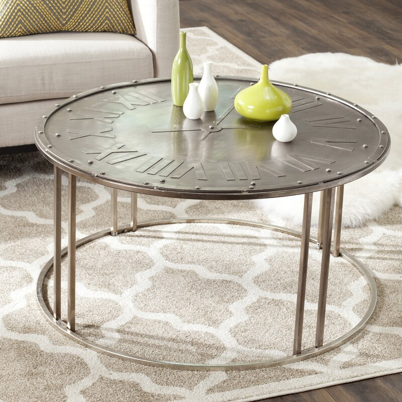 Fox Roman Clock Coffee Table