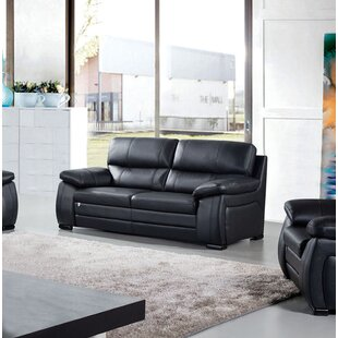Shop Ugarte Leather Loveseat by Latitude Run