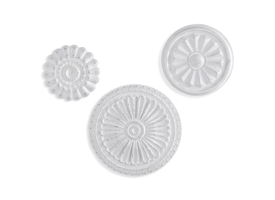 3 Piece Flower Medallion Wall Decor Set
