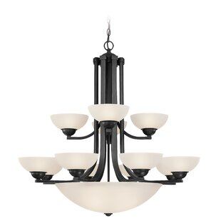 Dolan Designs Fireside 12-Light Shaded Chandelier
