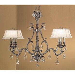 Classic Lighting Majestic 6-Light Shaded Chandelier