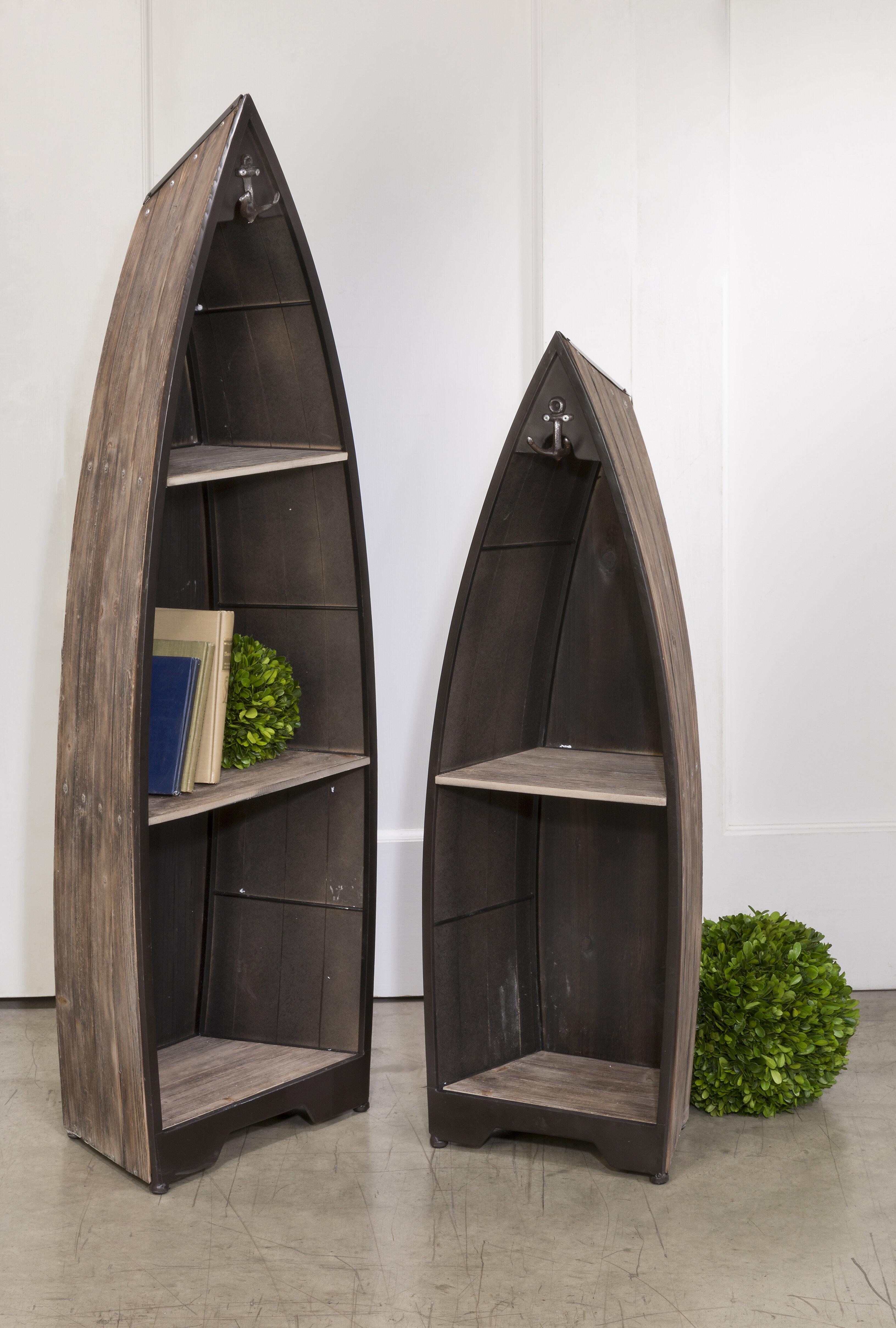 Breakwater Bay Finian 2 Piece Boat Bookcase Reviews Wayfair