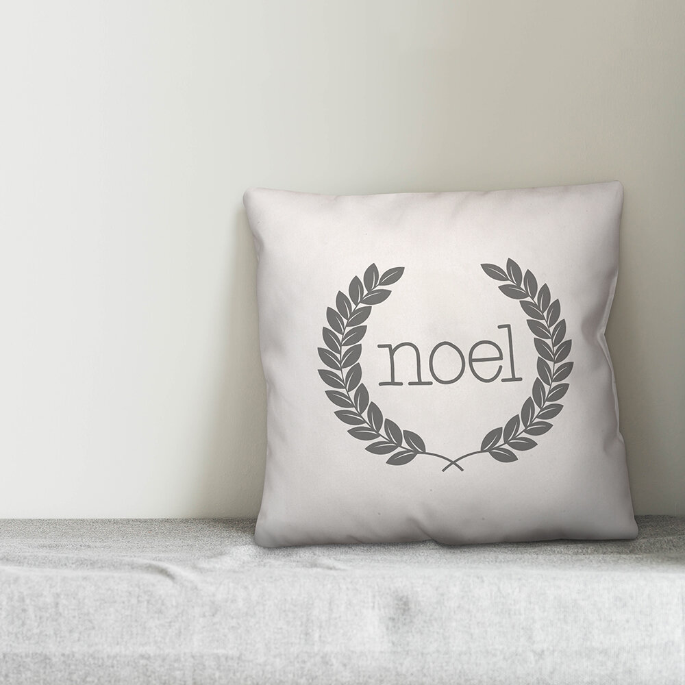 The Holiday Aisle Tindle Noel Throw Pillow Cover Wayfair