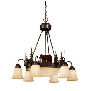 Jensen 9-Light Shaded Chandelier