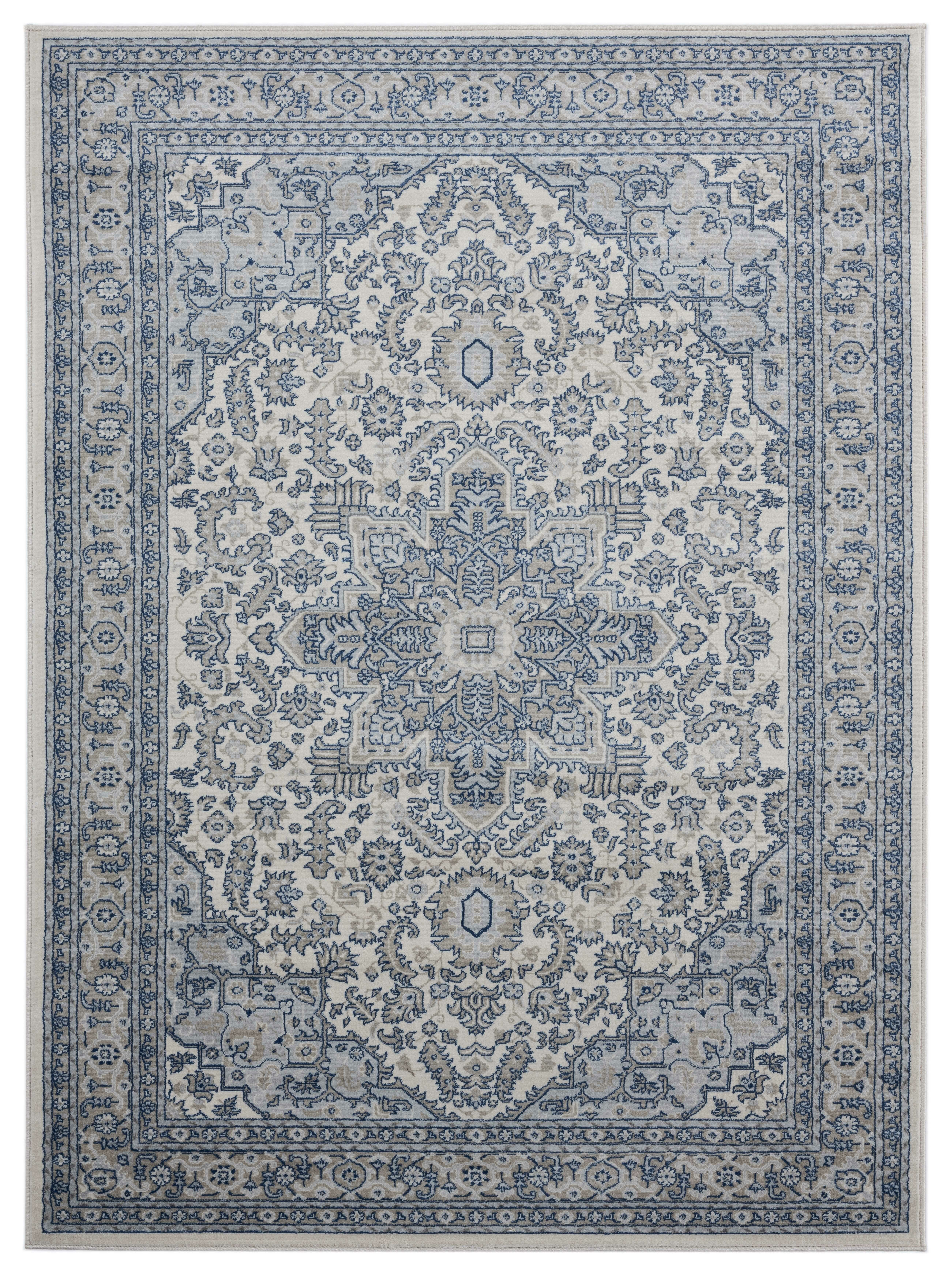 Ophelia Co Demmer Gray Cream Rug Wayfair