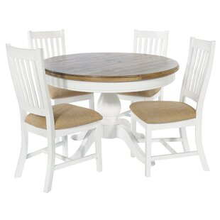 Bellemoor Dining Set With 4 Chairs By Breakwater Bay