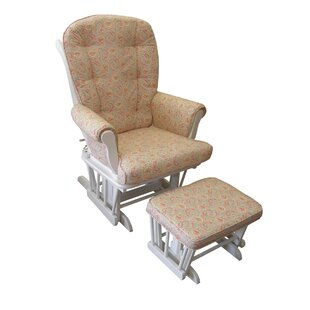Oxford Paisley Swivel Glider and Ottoman by Harriet Bee