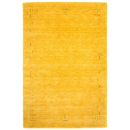 Stevie Hand Knotted Yellow Rug Bloomsbury Market Size: Runne