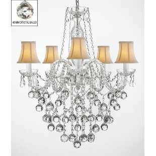 Keshawn 5-Light Shaded Chandelier by House of Hampton